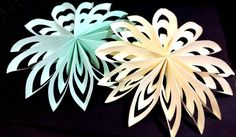 3D Paper Snowflake Tutorial Designed by ArtsnCraft4u Easy to make 3-Dimensional paper snowflakes look beautiful hanging on a wall or in a window. They are fu...