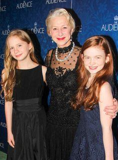 THE AUDIENCE's Elizabeth Teeter & Sadie Sink with star Helen Mirren