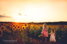 kids pictures with sunflower fields - Google Search