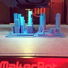 Students creating printable cities as part of @stevewclark's 3rd grade metropolis project in Calgary, Canada. 3dprinted with @Makerbot.