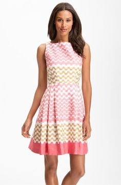 Taylor Dresses Print Jacquard Cotton Dress available at Nordstrom - Taylor dresses are a cute bridesmaid idea.