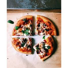 Harissa Pizza With North African Sausage, Feta And Pomegranates recipe by Rebecca Firth Couscous Healthy, Pomegranate Recipes, Chicken With Olives, Cooking Recipes, Healthy Recipes, Pizza Recipes, Food Out, Quick Easy Meals, Feta