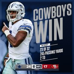 Cowboys Win 2016 Week 4 Cowboys vs 49'ers