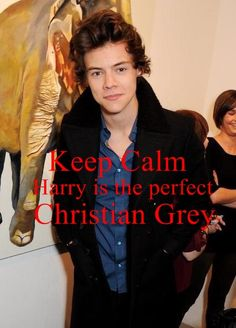 Sex-appeal. with classy suit and a trim, Harry Styles awwwwr Christian Grey