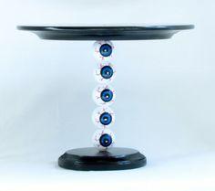 Eyeball Cake Plate...by Party Like Paula. $39.99, via Etsy.  Halloween Cake Plate