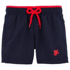 Chicos Corte Clásico Liso - Superflex liso, Navy / red front