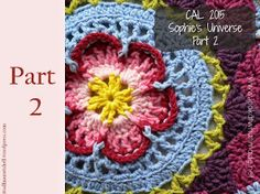 Find all the information for Sophie's Universe, including pattern links, video links, yarn packs and photographs. Resources Photo Tutorial by Dedri Uys Add the Free Pattern to your Ravelry Li… Easy Crochet Stitches, Afghan Crochet Patterns, Crochet Squares, Crochet Motif, Free Crochet, Knitting Patterns, Knitting Videos, Crochet Videos, Loom Knitting