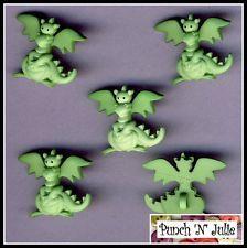 GREEN DRAGON - Fairytale Fantasy Animal Boy Novelty Dress It Up Craft Buttons
