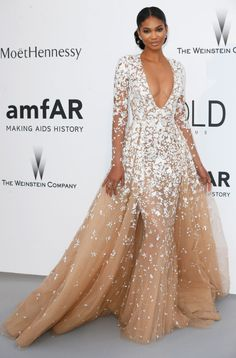 Chanel Iman in Zuhair Murad. See what all the stars wore at the Cannes amfAR gala.