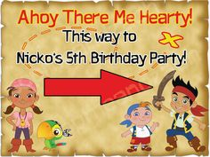 Custom Jake And The Neverland Pirates Theme Party By SophieAndZach