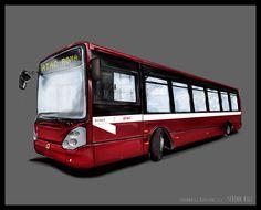 << Illustration >> - Atac Italy Bus inspiration - Wacom Tablet & Illustrator cs6 #illustration #illustrator #adobe #graphic #wacom #atac #bus