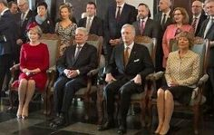 Queen Mathilde,  German President Joachim Gauck,  King Philipe & Daniela Schadt 3rd And Last Day Of Gramsmy's 3 Day State Visit.