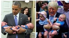 Donald Trump With Kids Couldn't Be More Different Than Barack Obama With Kids Funny Quotes, Funny Memes, Jokes, Bad Memes, Funniest Memes, It's Funny, Barack Obama, Donald Trump, Funny As Hell