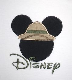 Boys Personalized Mickey Mouse Safari Hat Shirt