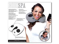 BodiSpa The Traveler Massaging Pillow with Speakers and 3...