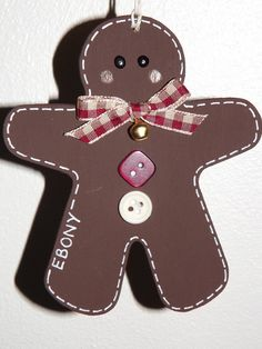Personalized Hanging Gingerbread Decoration £3.00