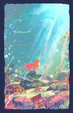 The Little Mermaid. Part of Your World by fukamatsu.deviantart.com