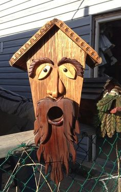 How to Make a Character Bird House - Snapguide Decorative Bird Houses, Bird Houses Diy, Fairy Houses, Bird House Plans, Bird House Kits, Bird House Feeder, Bird Feeders, Wood Projects, Woodworking Projects