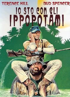 Due cugini, il grosso Tom e lo smilzo Slim, portano in giro i turisti in Africa e proteggono la fauna contro un losco capitalista e i suoi infimi mercenari. Science Fiction, Terence Hill, Westerns, 90s Movies, Alternative Art, Western Movies, Graphic Design Posters, Michel, Film Movie