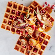 Belgian Waffles with Nectarines | Williams Sonoma Taste