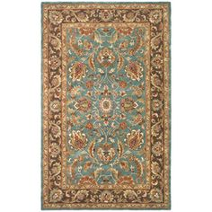 Safavieh Heritage Rectangular Blue Transitional Tufted Wool Area Rug (Common: 6-ft x 9-ft; Actual: 72-in x 108-in)