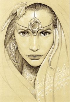 I LOVE this illustration! The Earth Goddess, she is fertility, feminine beauty, mastery and compassion. She vowed to live every incarnation in the body of a woman. Fantasy Kunst, Fantasy Art, Art Sketches, Art Drawings, Pencil Drawings, Earth Goddess, Goddess Art, Art Graphique, Divine Feminine