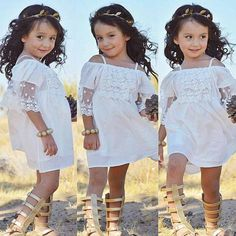01112599ebe Princess lace princess dress White Flower Girls Princess Dress Kids Baby  Party Wedding Pageant Lace Dresses Clothes Drop ship