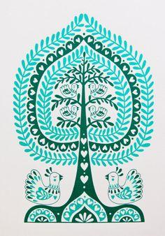 Today we're drooling over the gorgeous folk style art of illustrator Karoline Rerrie available via Howkapow.. Lush! http://morningedit.com/2013/06/21/karoline-rerrie/