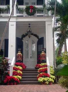 Beautiful door and shutters,   Merry Christmas! Key West Style