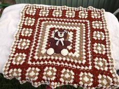 Crochet bear Baby Blanket. by Mariannasboutique on Etsy