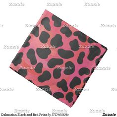 Dalmatian Black and Red Print Bandana