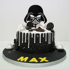 STAR WARS - Darth Vader - acrylic cake topper - birthday - any occasion Star Wars Birthday Cake, 4th Birthday Cakes, Star Wars Party, Birthday Cake Toppers, Star Wars Cake Toppers, Star Wars Cupcakes, Bolo Star Wars, Star Trek, Aniversario Star Wars