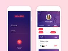 Fitness App | Find the best team and join it by Valeria Terekhina - Dribbble
