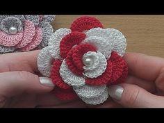 Crochet Flower Rose Very Easy Video Tutorial – Crocheted World