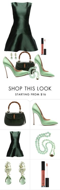 """Untitled #2774"" by nefertiti1373 ❤ liked on Polyvore featuring Gucci, Casadei, Lattori and Anastasia Beverly Hills"