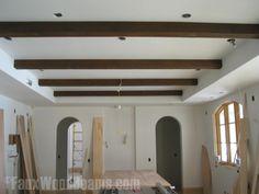 raised grain faux beams