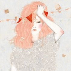 """drawgabbydraw: """" gobugipaper: """" •  Headache (2012) personal work ,digital painting, photoshop illustration by gobugi """" More great illustrations by Jung Eun Park here, and lots of them on tumblr, too. It was hard to choose just one to reblog here! """""""