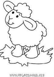 Resultado de imagem para ovelhinha para pintar em fralda