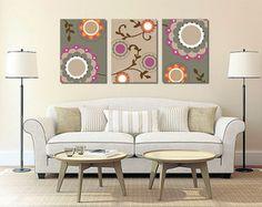 Trio de Telas Floral Colours II 50x70cm