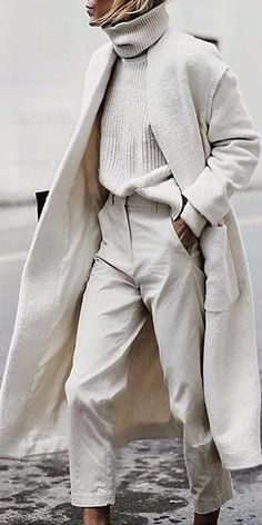 Autumn Winter Women's Casual Trench Long Coat Trend Fashion, Look Fashion, Fashion Outfits, Fashion Ideas, Womens Fashion, Nordic Fashion, Monochrome Fashion, Fashion Tips, Women's Winter Fashion