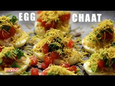 (2) Egg Chaat | Anda Chaat Recipe | Easy Egg Snack - YouTube Egg Recipes, Sweet Recipes, Cooking Recipes, Healthy Recipes, Chaat Recipe, Chaat Masala, Evening Snacks, Food Website, Pizza Party