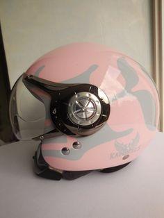 "Motorrad Helm für Damen  "" KAPORAL 5 ""  rosa-grau Gr. XS"