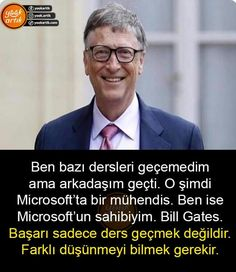 Interesting Information, Bill Gates, Study Motivation, Motto, Law Of Attraction, Wise Words, Favorite Quotes, Mirrored Sunglasses, Let It Be