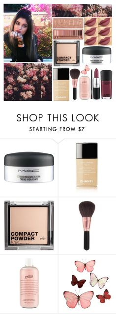 """""""Hair, Makeup, Lips ♡ ♡ ♡"""" by shanelle-khl ❤ liked on Polyvore featuring beauty, MAC Cosmetics, Chanel, Urban Decay, H&M, Elizabeth Arden and philosophy"""