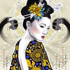 50 meilleures images du tableau illustratrions mes tites lilis event posters kimono et kimonos. Black Bedroom Furniture Sets. Home Design Ideas