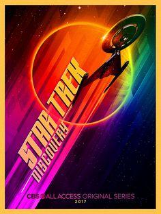 Star trek: discovery' design revealed in comic-con poster Blade Runner Poster, Blade Runner Art, Star Trek Enterprise, Star Trek Voyager, Discovery 2017, Dragon Comic, Laser Show, Star Trek Beyond, Phone Logo