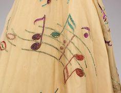 Schiaparelli - Robe et Gants Assortis - Collection 'Musique' - Broderies Lesage - 1939