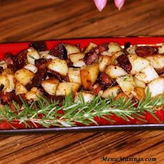 Andouille Breakfast Potatoes - Menu Musings of a Modern American Mom
