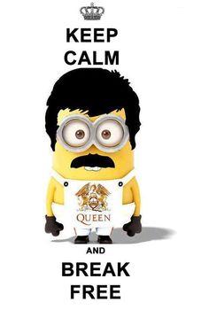 Freddy Mercury Minion, so cute! Minion Rock, Minions Love, Minions Despicable Me, Minions 2014, Minion Stuff, Minions Minions, Queen Mercury, Queen Freddie Mercury, Freddie Mercury Meme
