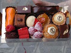 Mini pastries from Fauchon in Paris.